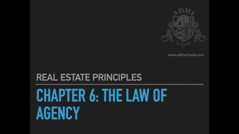 California Real Estate Principles Chapter 6