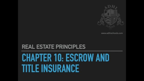 California Real Estate Principles Chapter 10
