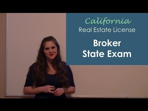 California Real Estate Broker State Exam
