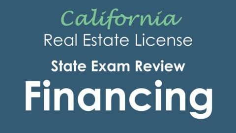 Financing | California Real Estate State Exam Review